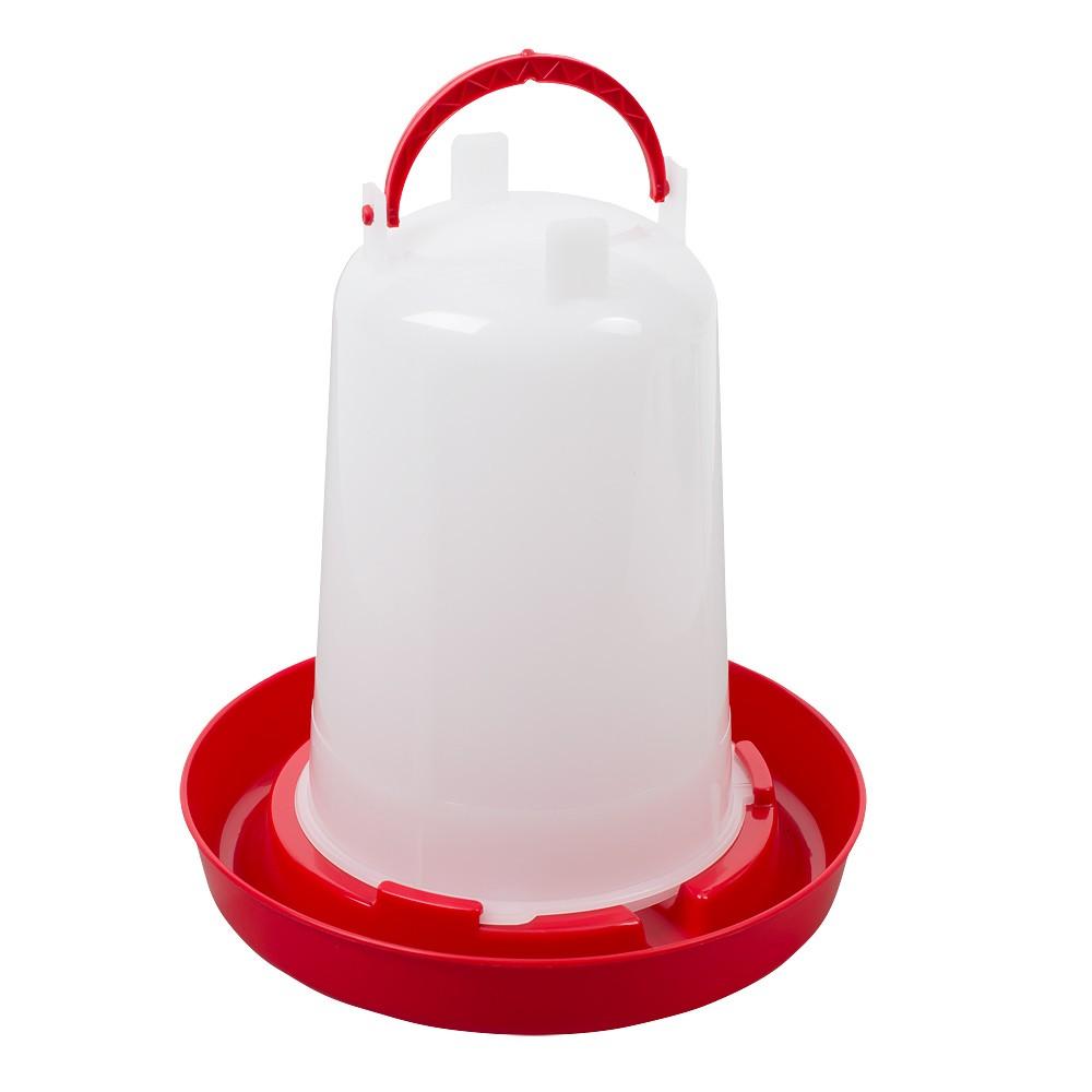 Geflügeltränke mit Bajonettverschluss 1,5 Liter rot