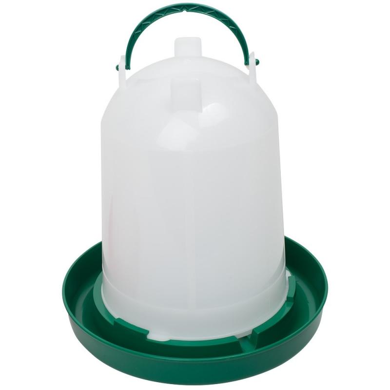 Geflügeltränke mit Bajonettverschluss 6 Liter grün