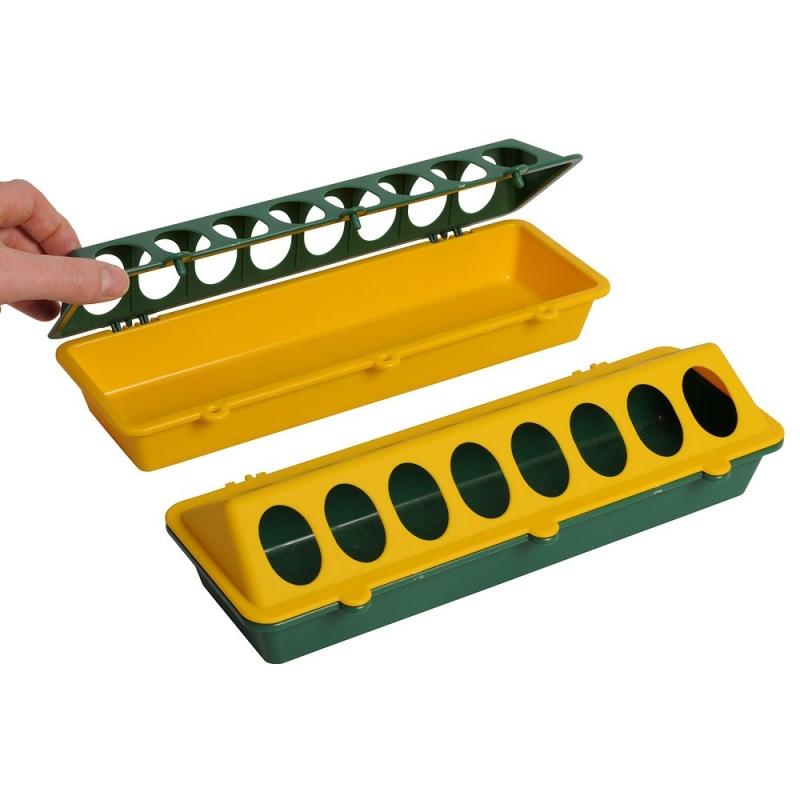 Wachtel und Kückenfuttertrog Kunststoff mit Löcher 30 cm