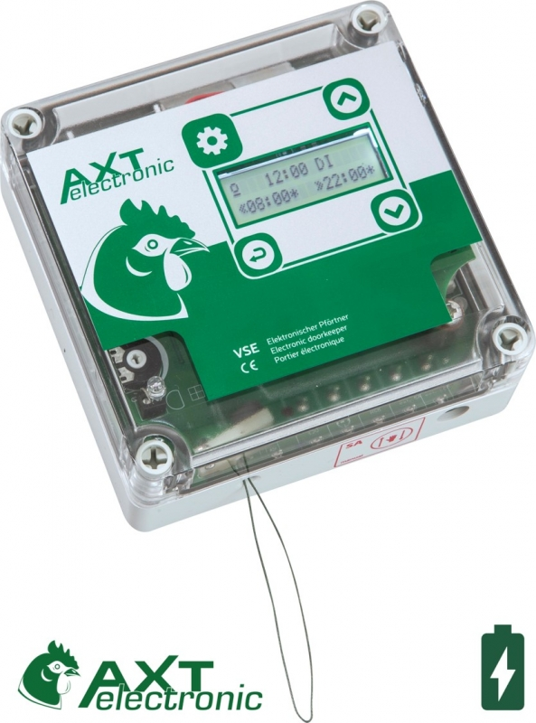 VSE Elektronischer Pförtner mit Batterienund Netzteil , integrierter Zeitschaltur, All-in-One
