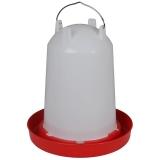12 Li. Hühnertränke mit Bajoettverschluss rot