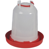 Geflügeltränke mit Bajonettverschluss 6 Liter rot