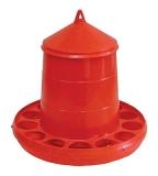 Kücken Wachtel Futterautomat rot 2 Kg mit Löcher