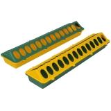 Wachtel und Kückenfuttertrog Kunststoff mit Löcher 50 cm