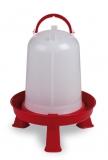 Wachtel und Hühnertränke mit Füßen 3 Liter rot